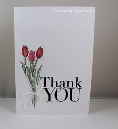Tulip Thanks by karrenj - Cards and Paper Crafts at Splitcoaststampers