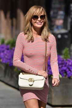 AMANDA Holden looks amazing in a striped dress after leaving the Heart Breakfast show today. The Heart Radio host was all smiles as she soaked up the sun on her Amanda Holden Bgt, Sexy Older Women, Sexy Women, Britain's Got Talent, Rock, Striped Dress, Beautiful Women, Celebs, Fashion Outfits