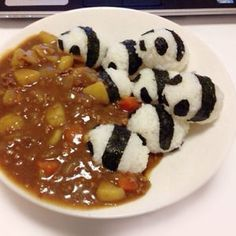 Incredibly Cute Meals Inspired By Japanese Cuisine - Pandas In A Curry Cooking Meme, Panda, Pancakes, Target, Japanese, Breakfast, Food, Japanese Language, Griddle Cakes