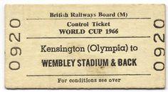 World Cup '66 rail ticket