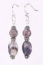 Jewelry Making Idea: Sugilite and Silver Earring (eebeads.com)