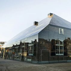 MVRDV Architects : Glass Covered Old Brick House, Schijndel, Netherlands | Sumally