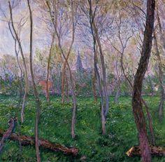 """""""Bennecourt"""" by Claude Monet, 1887 ・ Style: Impressionism ・ Genre: landscape"""