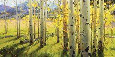 Gary Kim, Maroon Creek, oil, 24 x 48.
