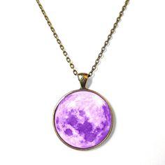 Cute Kawaii Pastel Purple Moon Necklace - Pastel Goth Soft Grunge Jewelry on Etsy, $15.00