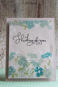 A Beautiful card by Nichol using the February 2014 Card Kit by Simon Says Stamp.  January 2014