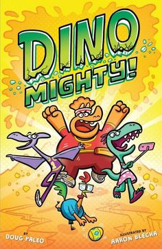 A wildly funny full-color graphic novel about dinosaur heroes on a quest to fight for good over evil. On their own, they are four mild-mannered dinos, but together they are...DINOMIGHTY! Everything is pleasant and good in Dinotown...until Teri-Dactyl discovers a cryptic email that says the precious Golden Egglettes are in danger! Dinomighties unite! But can they spring into action fast enough to save these valuable jewels from evil baddies?
