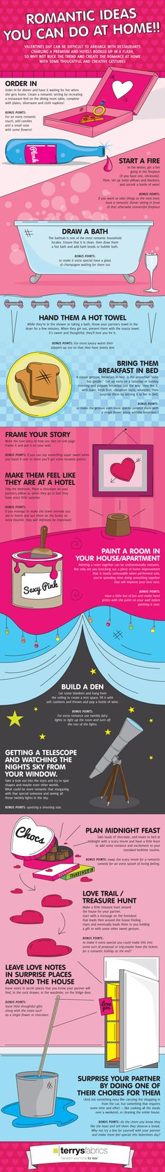 Romantic Ideas You Can Do At Home for Valentine's Day Infographic