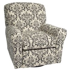 Little Castle Custom Upholstered Crown Linen Bordeaux Reclining Swivel Glider - Assorted