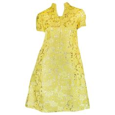 c.1968 Early Oscar de la Renta for Jane Derby Silk Dress | From a collection of rare vintage day dresses at https://www.1stdibs.com/fashion/clothing/day-dresses/