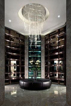♂ Modern commercial retail space with masculine interior by Steve Leung Designers - HQ City Sales Office, Chongqing, China
