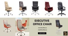 Offering an air of prestige, attractive and professional executive office chairs- ideal for leadership offices, conference rooms, and countless other applications. Enhance the style and productivity and get all-day comfort with Floor 2 Floor Executive Office Chairs. #executiveofficechair #dubai #executivechair #officechair #officefurniture #office #furniture #homeoffice #workspace #officedesk #officeinterior #workfromhome #chairs #workplace #officechairs #ergonomicchair #floor2floor Executive Office Desk, Ceo Office, Executive Chair, Luxury Furniture, Office Furniture, Office Chairs Online, High Back Chairs, Buy Chair, Ergonomic Chair