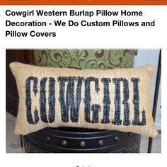 cowgirl cushions - Google Search