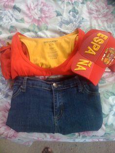 My uniform for the 2012 Euro Cup. Viva Espana, Vamos!