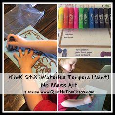 Kwik Stix- waterless tempera paint no mess art!
