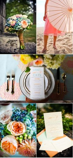 Beach Déjeuner Photo Shoot by Hello Darling & Amanda Hein Photography #ideas #inspiration #weddings