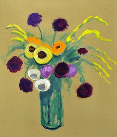 'Ranunculus and Mimosas' by Gabriele Münter (1941)