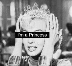 I'm a Princess - Marilyn Monroe Gray Aesthetic, Black Aesthetic Wallpaper, Black And White Aesthetic, Bad Girl Aesthetic, Aesthetic Iphone Wallpaper, Black And White Picture Wall, Black And White Pictures, Im A Princess, Princess Diana