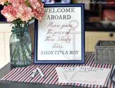 Ahoy It's a Boy Decorations | Ahoy It's a Boy - Baby Shower - The Lilypad Cottage