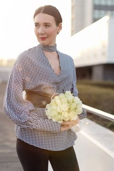 Outfit: Gingham Balloon Sleeve Blouse | www.moodforstyle.de | Fashion, Food, Beauty & Lifestyle Blog from Germany