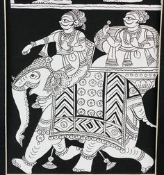 4 Scenes of Phad Painting Traditions Mysore Painting, Rajasthani Painting, Kalamkari Painting, Madhubani Painting, Phad Painting, Worli Painting, Coffee Painting, Indian Traditional Paintings, Indian Art Paintings