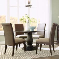 Broyhill Affinity Dining Room Set Broyhill Furniture Seabrooke 7 Piece Turned Leg Dining Table And