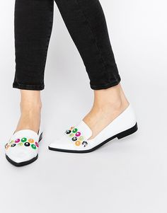 Image 1 of ASOS MERMAID Embellished Flat Shoes