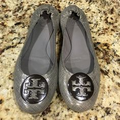 Tory Burch Reva Flats Selling gently used Tory Burch 'Reva' flats. They are a size 8 and are in excellent condition (see pictures). Any questions, please ask. Tory Burch Shoes Flats & Loafers
