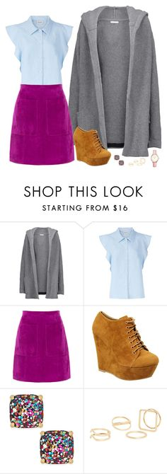 """Untitled #1227"" by samantha-hannum ❤ liked on Polyvore featuring Chinti and Parker, Rachel Comey, L.K.Bennett, Eye Candie, Kate Spade, MANGO and Topshop"