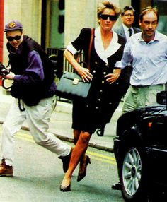 Princess Diana running away from the Paparazzi                                                                                                                                                                                 More