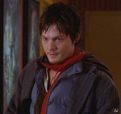 Norman in a scarf