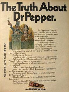 Vintage ad for Dr pepper