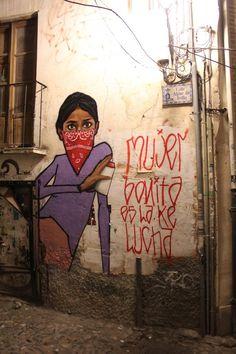 Albayzin Graffiti by cheko , via Behance Graffiti Wall Art, Art Mural, Feminism Quotes, Paint Photography, Best Street Art, Feminist Art, Spanish Artists, Power Girl, Urban Art