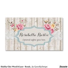 Shabby Chic Wood & Lace - Rosabella Rustic Pack Of Standard Business Cards