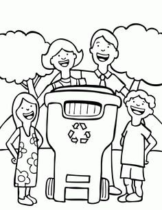 Recycle coloring page recycling and nature recycling for Recycling coloring pages