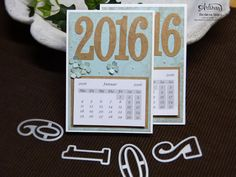 Number of years stamp set, 2016 Occasions Catalog, Fun Calendar Cool Calendars, Desk Calendars, Card Making Inspiration, Making Ideas, Create A Calendar, Craft Presents, Christmas Craft Fair, Hand Stamped Cards, Stampinup