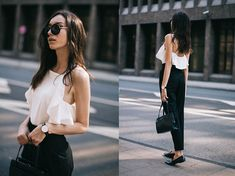 Beatrice Gutu - Top, Pants, Shoes, Bag, Watch - French Style