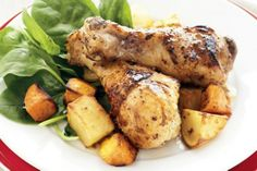 Honey And Mustard Roasted Chicken Drumsticks by Taste.Com.Au. Here is a healthy, budget-friendly recipe for the whole family to enjoy.