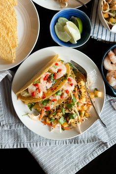 grilled shrimp tacos with pineapple slaw — passports & pancakes