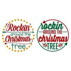 Rockin' around the Christmas Tree SVG Cuttable Designs