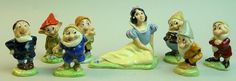 WADE DISNEY SNOW WHITE AND THE SEVEN DWARFS FIGURES 1981  in Pottery, Porcelain & Glass, Porcelain/ China, Wade, Disney | eBay