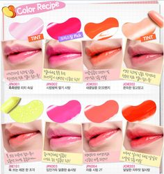 Etude House Sweet Recipe jelly lipsticks