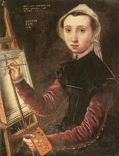 Caterina van Hemessen - Wikipedia, the free encyclopedia Self portrait of van Hemessen (1548). This self-portrait may be the first self-portrait of an artist at work at the easel, regardless of gender. [1]