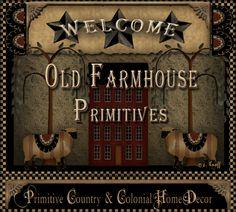 Old Farmhouse Primitives Primitive Country Colonial Home Decor