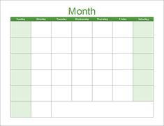 monthly calendar template for word