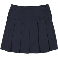 French Toast Girls School Uniforms Pleated Scooter with Grosgrain... ($5.44) ❤ liked on Polyvore featuring skirts, bottoms and mini skirts