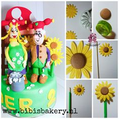 This week is my week of pictorial leftovers so to speak  Today is my easy standing sunflower pictorial. They come in handy if you need a nice surrounding. xxx Bibi  https://www.facebook.com/bibisbakery.nl #bibisbakery