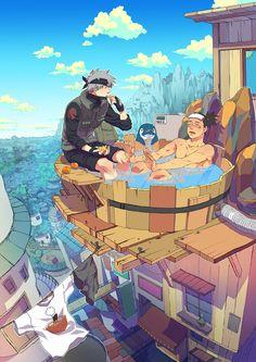 Shikamaru et Kakashi - Naruto shippuden Naruto Uzumaki, Anime Naruto, Kakashi Hatake, Sasori And Deidara, Shikamaru, Gaara, Naruhina, Itachi, Manga Anime