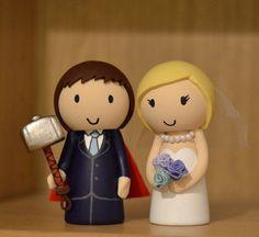 Marvel Thor Inspired Wedding Cake Topper Custom Made To Order