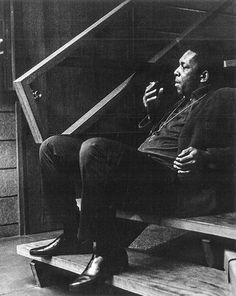 Coltrane on a break from A Love Supreme.